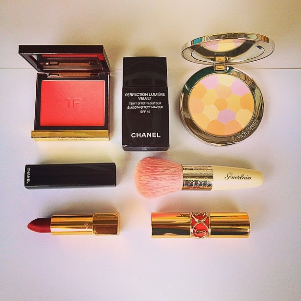 Makeup Used and New Makeup makeup beauty beauty  YSL Rouge Volupte Tom Ford flush Guerlain Meteorites Compact Chanel Rouge Allure Velvet Chanel Perfection Lumiere Velvet  photo picture image